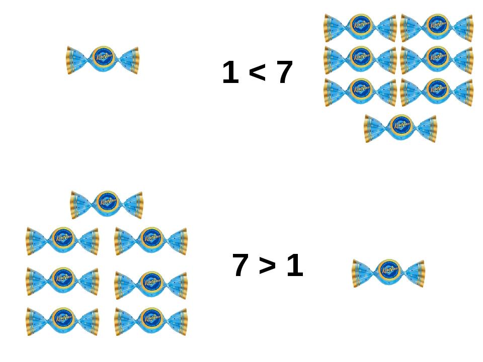 1 < 7 7 > 1