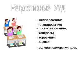 - целеполагание; - планирование; - прогнозирование; - контроль; - коррекция;
