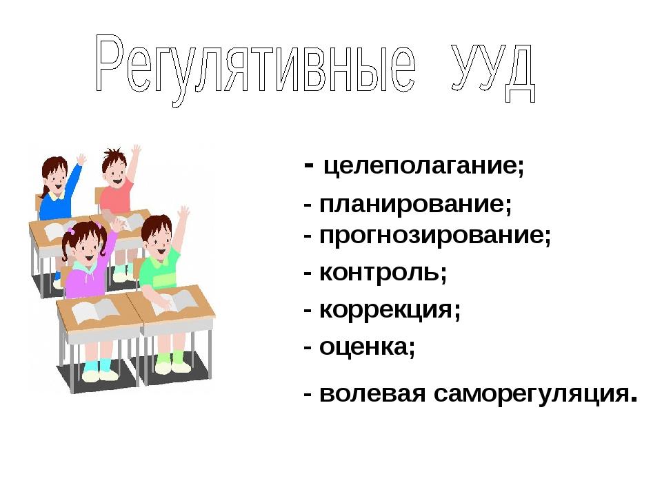 - целеполагание; - планирование; - прогнозирование; - контроль; - коррекция;...