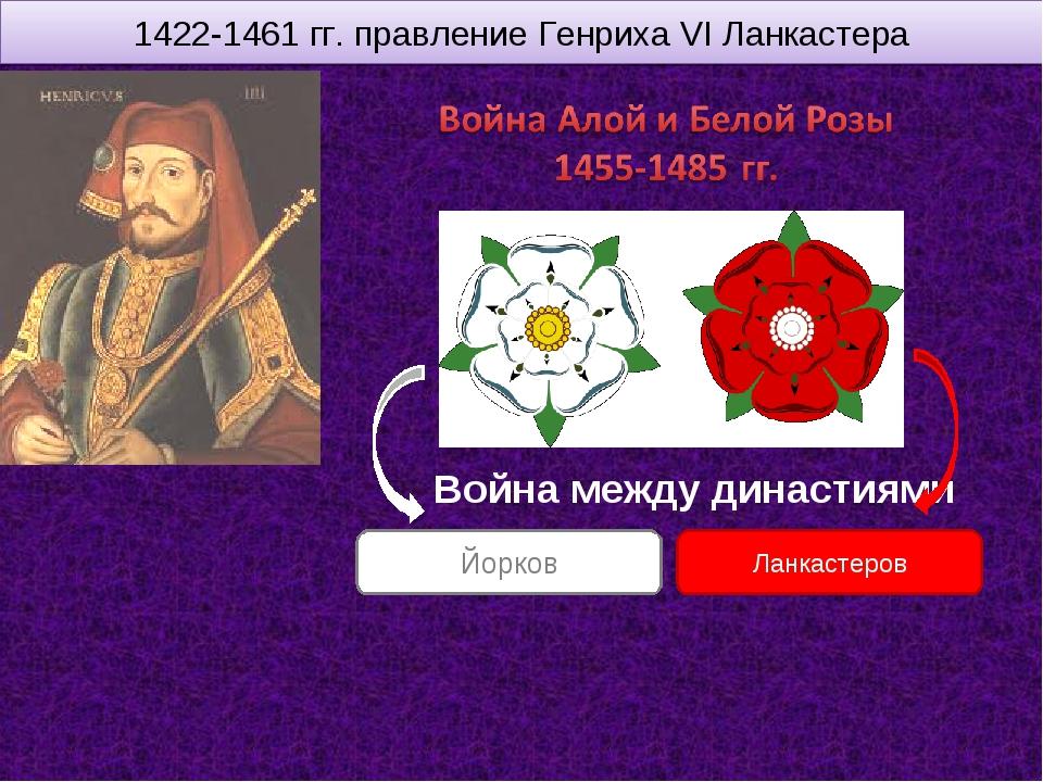 1422-1461 гг. правление Генриха VI Ланкастера Война между династиями Ланкасте...