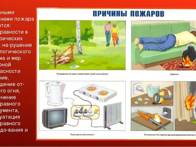 Основными причинами пожара являются: неисправности в электрических сетях, на...