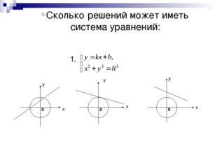 1. x x x y y y Сколько решений может иметь система уравнений: 0 0 0
