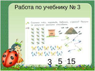 Работа по учебнику № 3 3 5 15