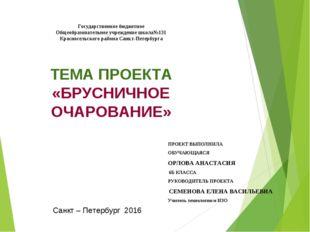 Государственное бюджетное Общеобразовательное учреждение школа№131 Красносел