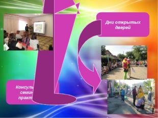 Консультации, семинары - практикумы Дни открытых дверей
