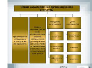 Общие характеристики организационной структуры права и обязанности на всех у