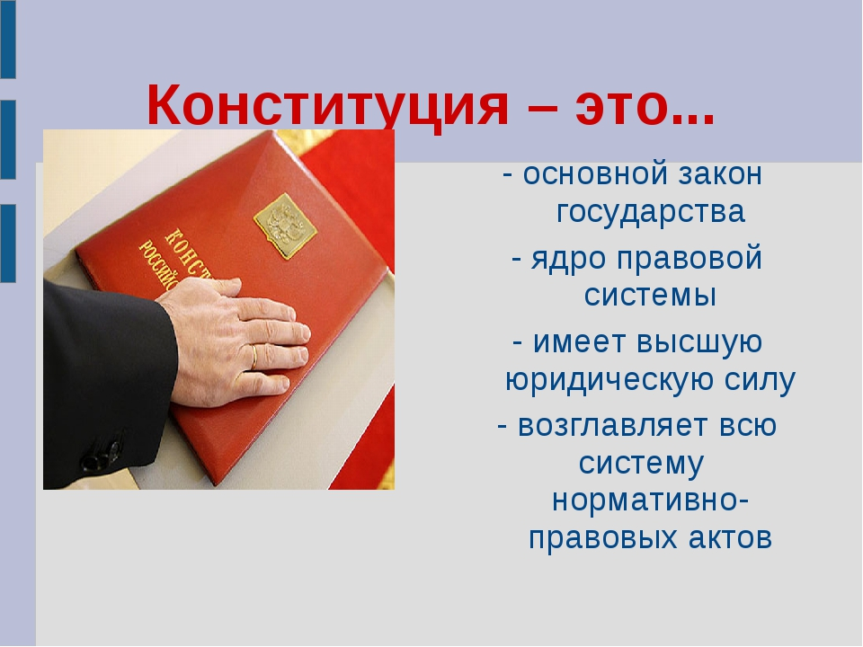 Конституция – это... - основной закон государства - ядро правовой системы - и...