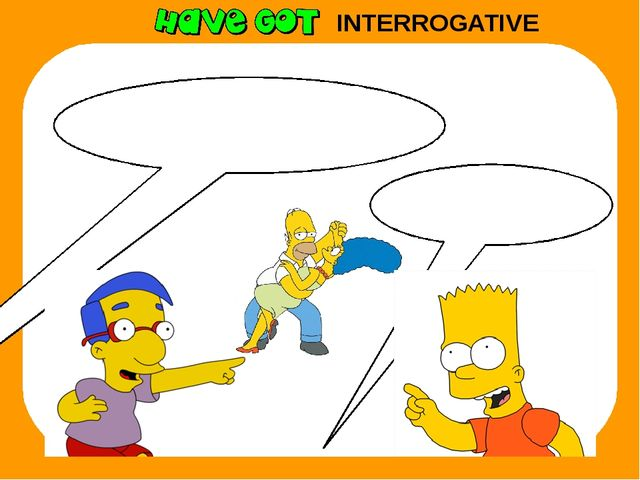 INTERROGATIVE Have they got a saxophone? No, they haven't.