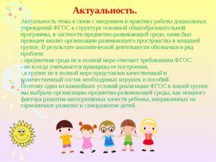 Актуальность темы в связи с введением в практику работы дошкольных учреждений