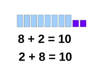 8 + 2 = 10 2 + 8 = 10