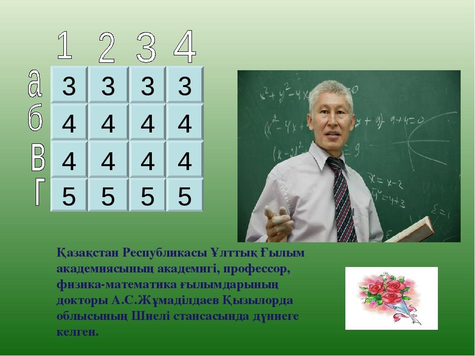 3 3 3 3 4 4 4 4 4 4 4 4 5 5 5 5 Қазақстан Республикасы Ұлттық Ғылым академияс...