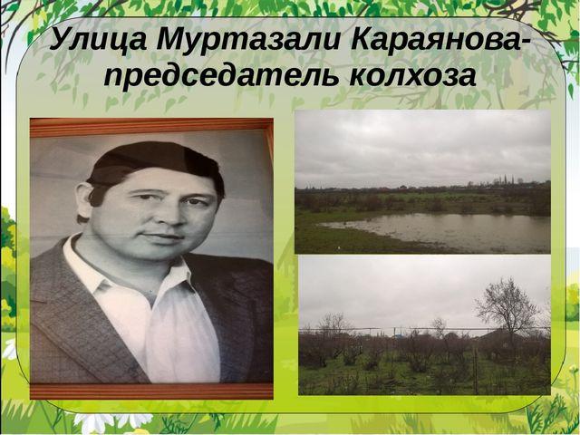Улица Муртазали Караянова- председатель колхоза