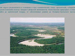 Территория округа располагается в основном в трех климатических зонах: арктич