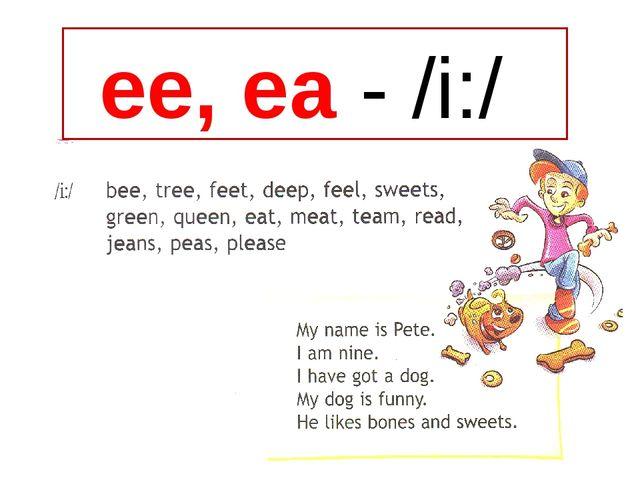 ee, ea - /i:/