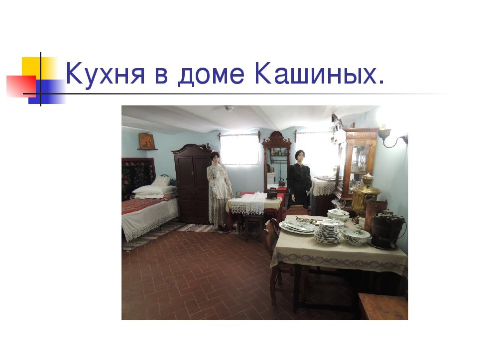 Кухня в доме Кашиных.