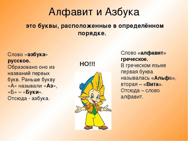 Алфавит и Азбука Слово «азбука» русское. Образовано оно из названий первых бу...