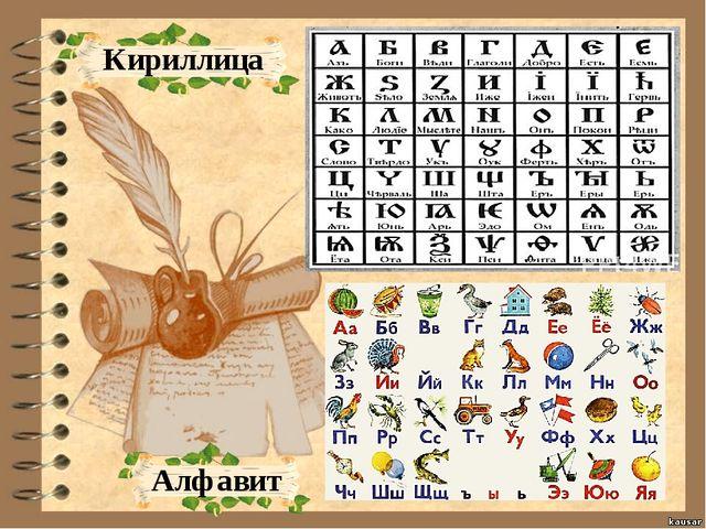 Кириллица Алфавит