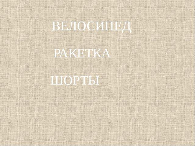 ВЕЛОСИПЕД РАКЕТКА ШОРТЫ