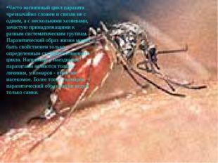Часто жизненный цикл паразита чрезвычайно сложен и связан не с одним, а с нес