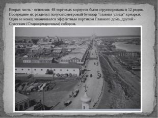 Вторая часть - основная: 48 торговых корпусов были сгруппированы в 12 рядов.