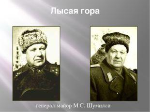 Лысая гора генерал-майор М.С. Шумилов