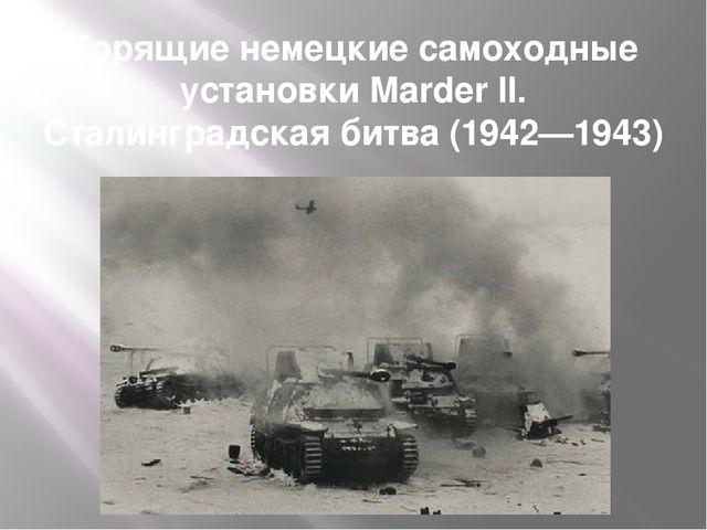 Горящие немецкие самоходные установки Marder II. Сталинградская битва (1942—1...