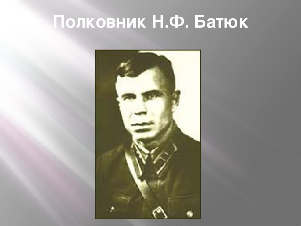 Полковник Н.Ф. Батюк