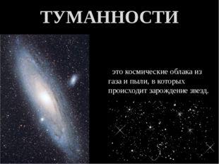 это космические облака из газа и пыли, в которых происходит зарождение звезд