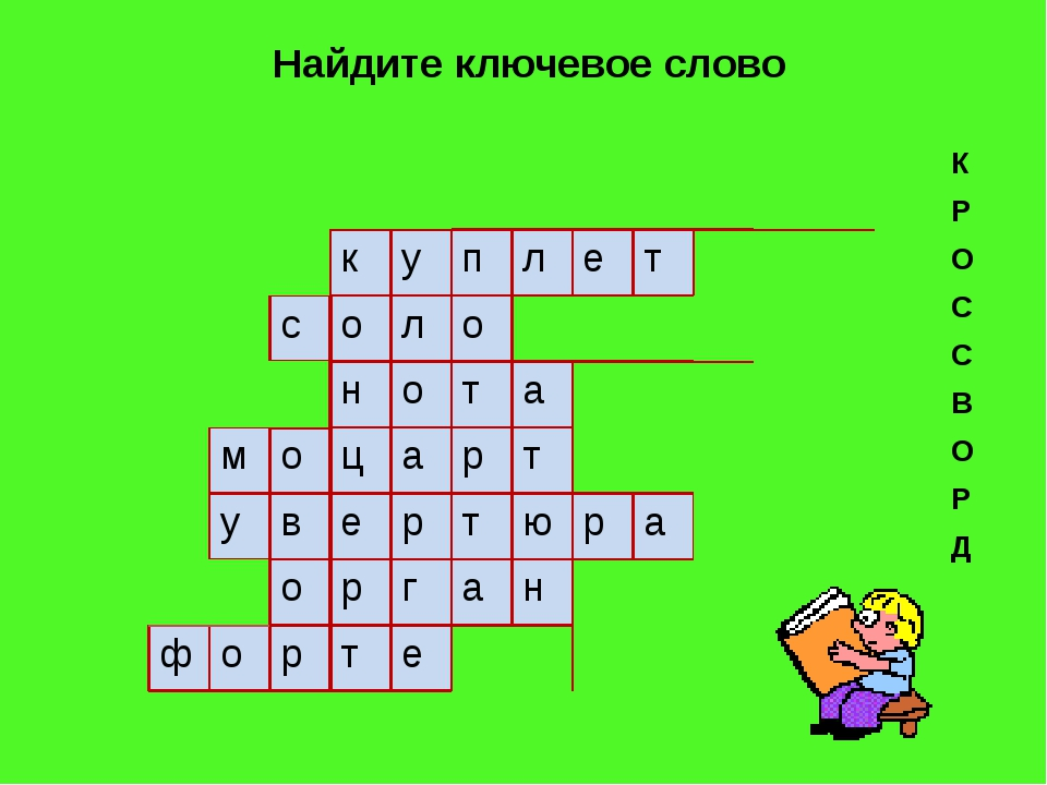 Найдите ключевое слово К Р О С С В О Р Д к у п л е т с о л о н о т а м о ц а...