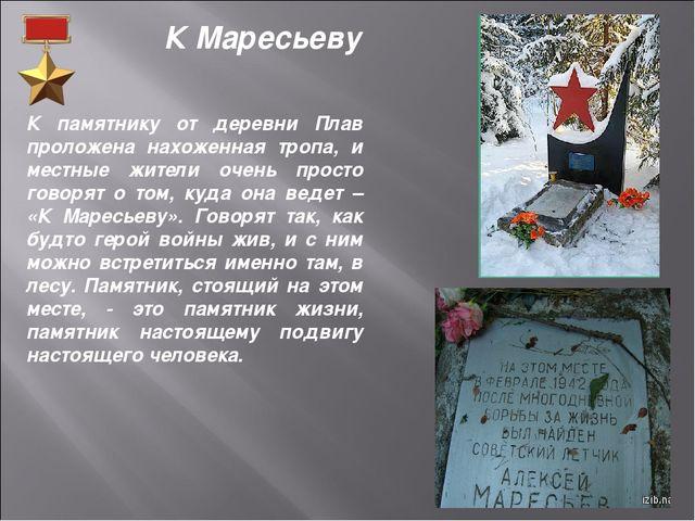 К памятнику от деревни Плав проложена нахоженная тропа, и местные жители очен...