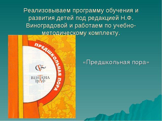 Реализовываем программу обучения и развития детей под редакцией Н.Ф. Виноград...