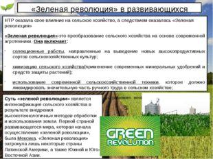 «Зеленая революция» в развивающихся странах. НТР оказала свое влияние на сель