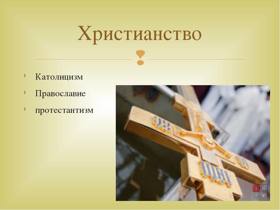 Католицизм Православие протестантизм Христианство 