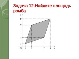 Задача 12.Найдите площадь ромба
