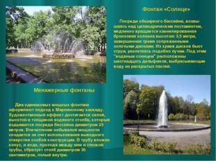 Фонтан «Солнце» Менажерные фонтаны Два одинаковых мощных фонтана оформляют по