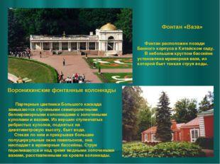 Воронихинские фонтанные колоннады Партерные цветники Большого каскада замыка