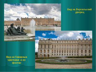 Вид на Версальский дворец Вид на Северные Цветники и их фонтан
