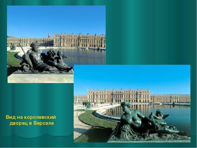 Вид на королевский дворец в Версале