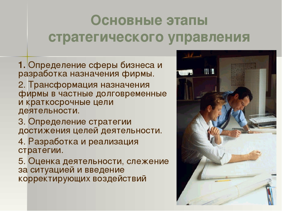 Основные этапы стратегического управления 1. Определение сферы бизнеса и разр...