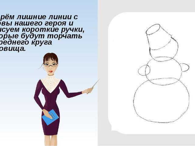 Сейчас нарисуем пару точек, которые будут обозначать глаза и ручку от головн...