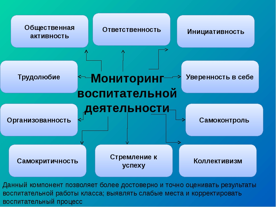 Мониторинг воспитательной деятельности Общественная активность Ответственност...