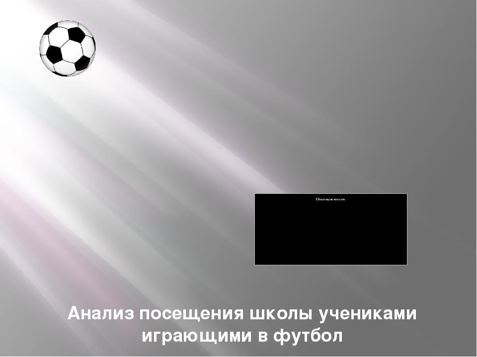 Анализ посещения школы учениками играющими в футбол