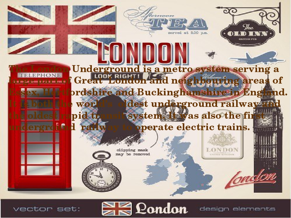 The London Underground is a metro system serving a large part of Great London...