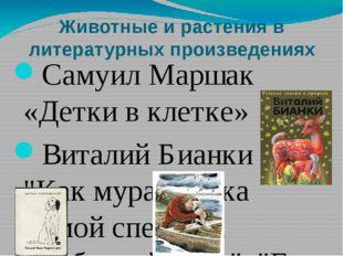 Животные и растения в литературных произведениях Самуил Маршак «Детки в клетк