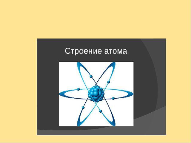 Тест Строение атома