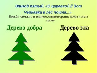 Эпизод пятый. «С царевной//Вот Чернавка в лес пошла...» Борьба светлого и т