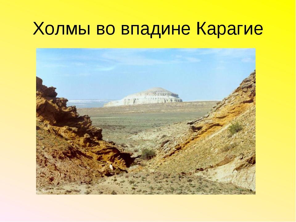 Холмы во впадине Карагие