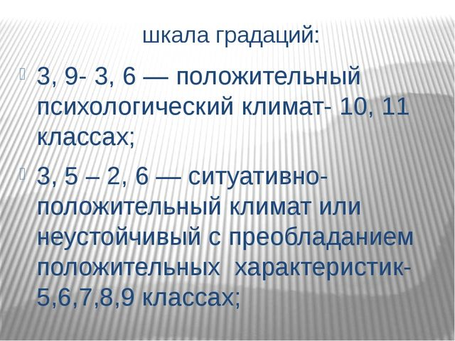 Уровень групповой сплоченности: 11, 6 - 15 - выше средней – 6,7,8, 10, 11 кла...