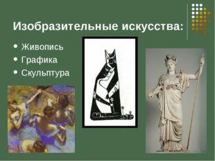 Изобразительные искусства: Живопись Графика Скульптура