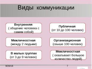 Основные термины коммуникационный процесс – это обмен информацией между двумя